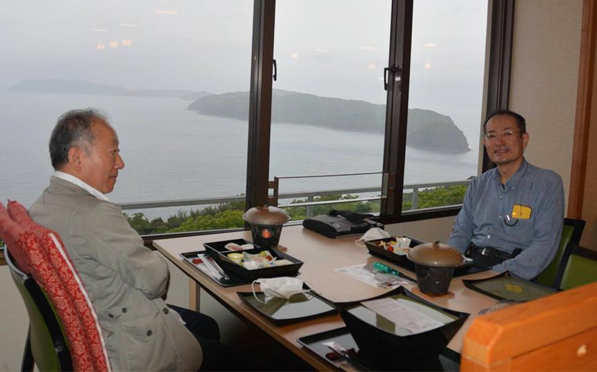 加太国民休暇村にて会食